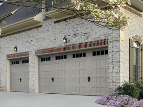 Garage Door on Brick House